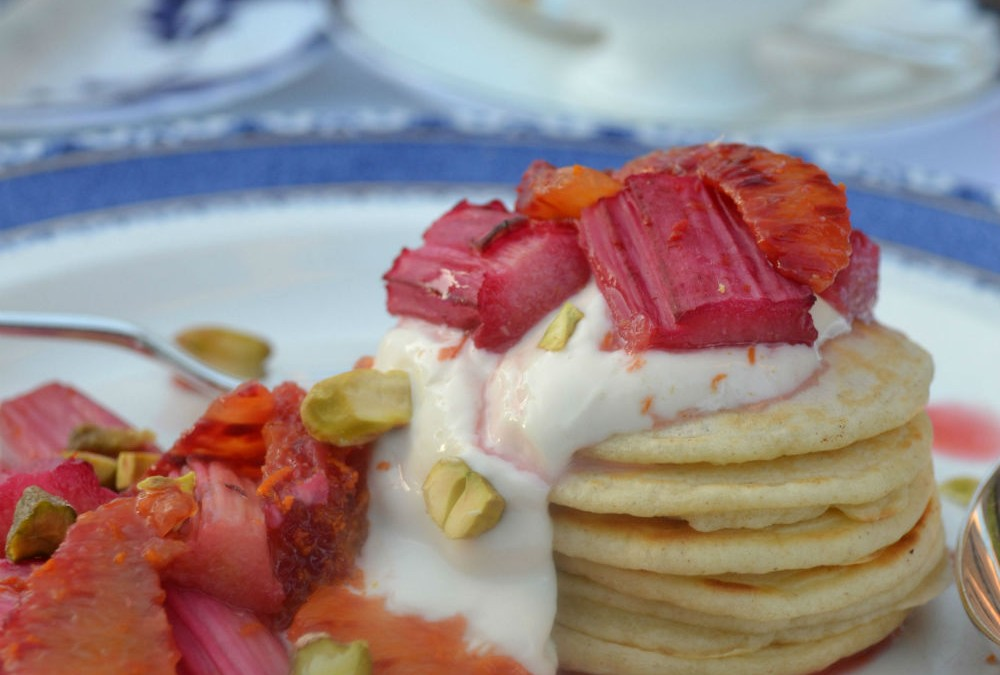 RECIPE: Griddle Scones with Forced Rhubarb & Blood Orange Compote