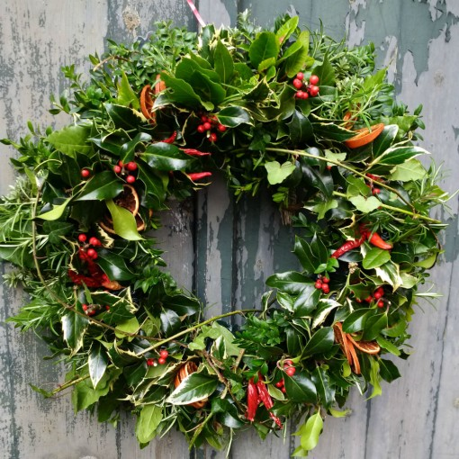 christmas_wreath_making_course_Dorset