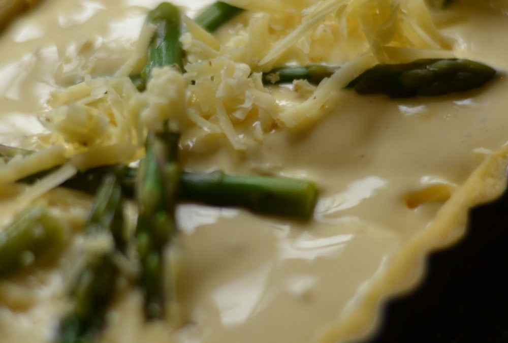 RECIPE: Elderflower and asparagus tart