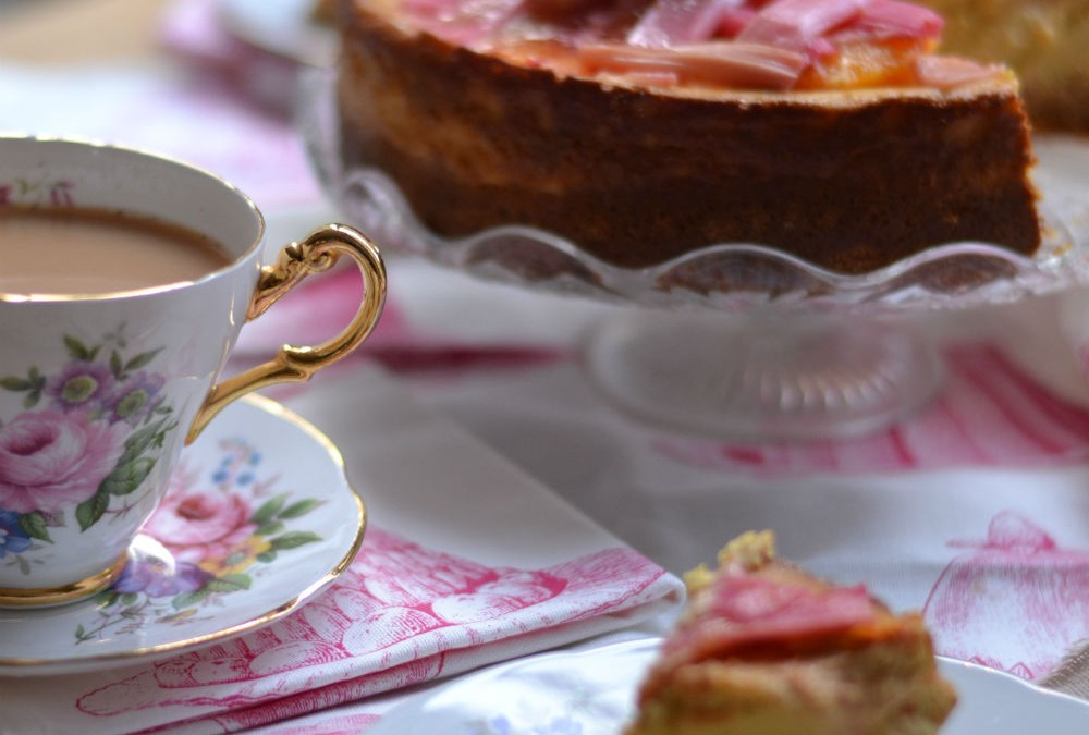 RECIPE: Rhubarb and ginger cheesecake