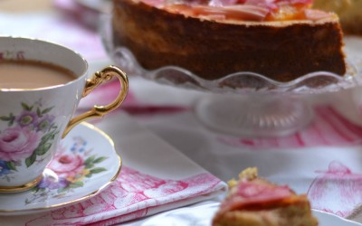 RECIPE: Rhubarb and ginger cheesecake