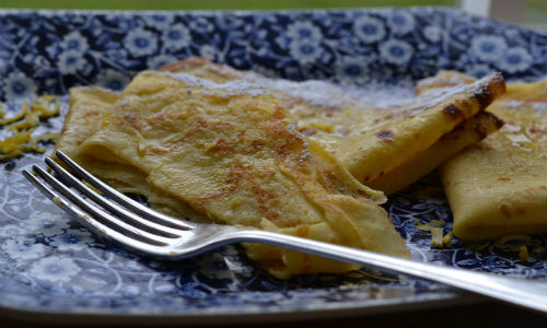 RECIPE: Traditional lemon & sugar pancakes for Shrove Tuesday.